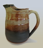 Stoneware pitcher by RJ Tonneson