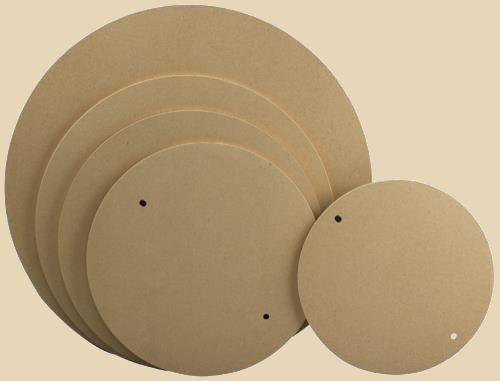 Round Medex wooden bats by NorthStar for potters wheels.
