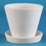 Small image of DB2775 Bisque Planter with Base.