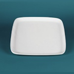 Duncan bisque square salad plate