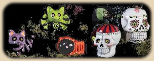 Duncan Halloween bisque items.