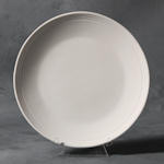Small image of SB104 Plain stoneware rimmed plate.