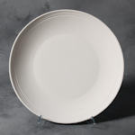 Small image of SB105 Plain stoneware large rimmed plate.