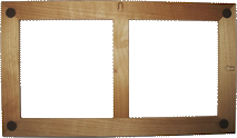unfinished double frame for 6in tile - Double Photo Frame