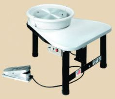 Pacifica GT400 electric potters wheel with attached seat.