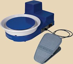 Shimpo Aspire tabletop wheel with foot pedal.