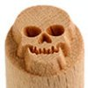 Small image for MKM Skull 1.5 cm wood stamp