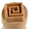 Small image for MKM Square Spiral 1.5 cm wood stamp