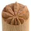 Small image for MKM Hemp Leaf 1.5 cm wood stamp